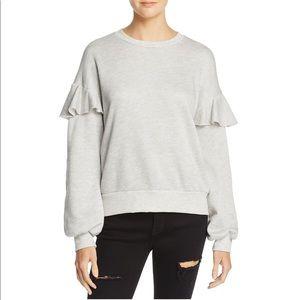 Nation LTD sweatshirt with ruffle detail